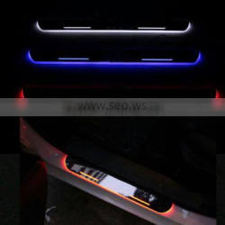 LED door sill moving scuff plate lights for Cadillac SRX XTS ATS-L LED door sill plate