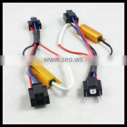 50W H4 LED error canceller H4 LED warning canceller Decoder cables wiring harness