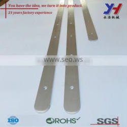 OEM ODM Custom Made Brushed Aluminum Metal Strips with Holes