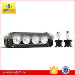 40W 4*10W 8Inch Epistar Combo Led Light Bar Lamp 3400lm Waterproof Offroad Vehicle Driving Combo White Combo Beam 45 Combo