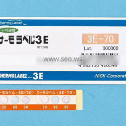Temperature indicator label for train axle/3 Level/Irreversible/From 40 to 250 deg.C