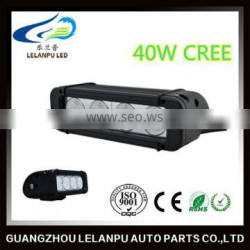 Auto parts Single Row LED Light Bar for Vehicles 40w 7.8inch Accessories Work Light