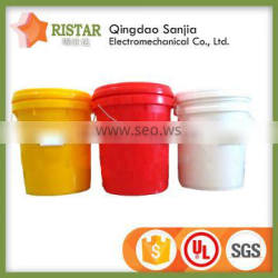 China supplier 5 gallon barrel multifunction pails pp plastic bucket with metal handle and spout