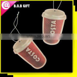 Eco-friendly scents paper car air freshener for promotion
