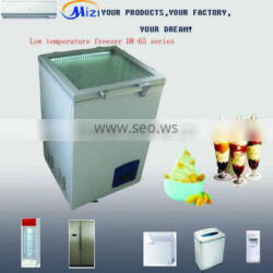 -65 degree 108L top glass chest freezer/ ice cream freezer
