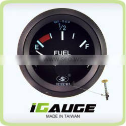 Taiwan high quality 52mm Electrical Gauge for car, black Fuel Level Gauge with Float