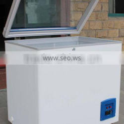Glass door chest freezer,mini glass door deep freezer