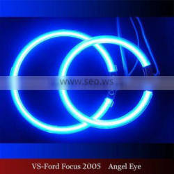 wholesale led headlight blue color CCFL Halo rings for Ford Focu.s 2005 12v ccfl angel eyes for ford cars halo rings kit