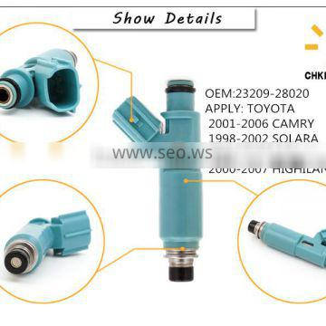 Hot sales 12v auto parts fuel injector/ injection nozzle for TOYOTA Camry Previa/Tarago OEM 23209-28020