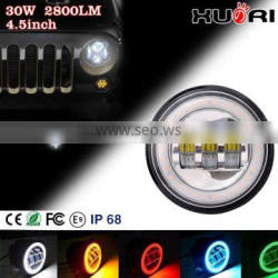car auto parts 4 Inch fog light for J-eep Wranglers JK LED Fog Lamp Light with halo ring bump light