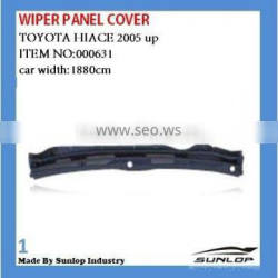 toyota hiace body parts hiace wiper panel cover #000631/#000631-1 for hiace kdh200 commuter wide body/narrow body