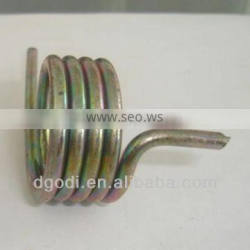 small types of zinc plated steel hook torsion spring