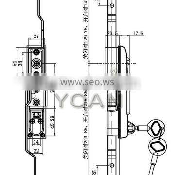 High security cylinder lock for industrial cabinet box