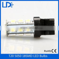 DC 12V Super Bright Led Automotive Light Car 5050 smd 18Led T20 Parking Head Reverse Bulb Lamp