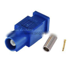 long modle Fakra plug male straight connector for Rg174 cable
