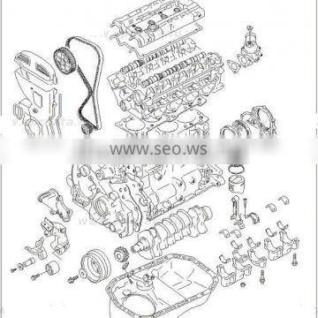 NEW ENGINE GASOLINE G4CP EURO-3-4 ASSY-SUB SET MOBIS 2015 MNR