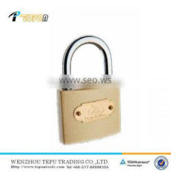 iron padlock with brass plating