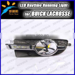 For LaCrosse daytime running lights led External lamp with decoration lamp 100% waterproof led drl light for Buick
