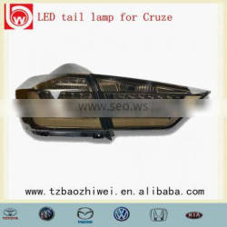 rear light lamp Smoked black color!Auto LED tail lamp light for Cruze 2015