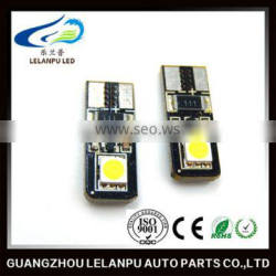 factory price auto led car Light bulbs 5050 2SMD canbus 12v led t10