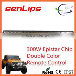 52inch double color rows led light bar 300W 22000LM amber led light bar 4x4