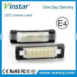 Car accessories led license plate lamp for Benz W210 W202 4D led number plate light