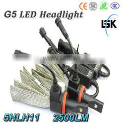 LANSEKO DC12v-24V 6500k G5 car led h11 headlight