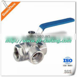 4 way valve OEM casting products from alibaba website China manufacturer with material steel aluminum iron