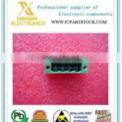 "Terminals 1777099 TERM BLK HEADER 4POS/PIN 0.200""/5.08MM GREEN 12A 300V SOLDERING FRED COMBICON MSTBV"