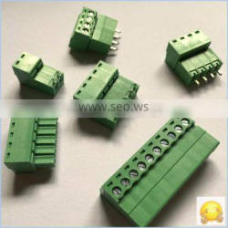 Factory Price green pcb terminal connector 3.50 3.81 5.08mm electric screw clamp terminal block