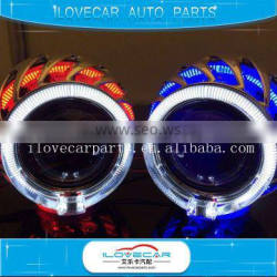 Coolest Circular crystal angel eyes for six color,hid xenon kit projector lens for h1