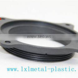 Black PC plastic fixing plate for fastening cables