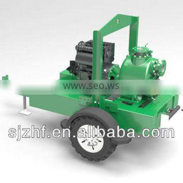 trailer mounted self priming trash pump