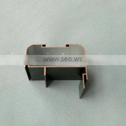 shining black anodized aluminum profile for LED