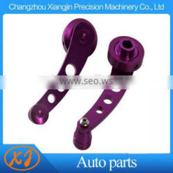 Purple billet aluminum window crank handle winder for truck or car pickup door