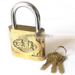 High Security Golden Cast Iron Padlock