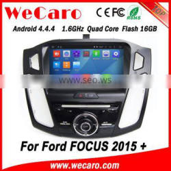 Wecaro WC-FF8088 Android 4.4.4 car dvd player indash for media for ford focus 2015 BT gps 3g TV