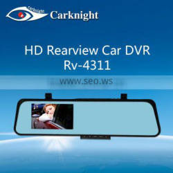 Rearview mirror Universal clip on Car DVR with 2-way Video put +1080P