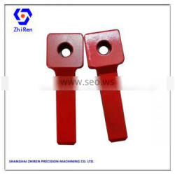 High Precision Iron Parts Painted Red Automation Machine Parts Customized CNC Milled Components