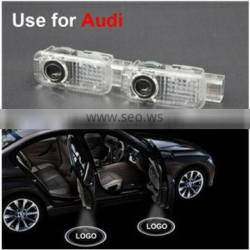 No Drilling LED Ghost Shadow Projector Laser Courtesy Logo Light For AUDI A4 2003-2016 A6 2000-2016