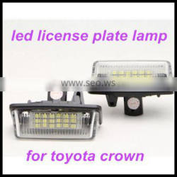 car accessory 12V led license plate lamp for toyota crown 03-09 license plate light