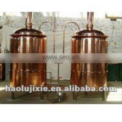 500L beer brewing equipment, used at bar, restaurant, made by red copper, SS material