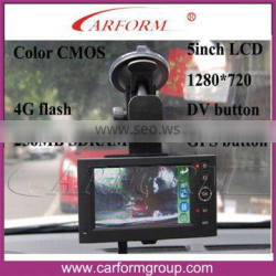 "large factory direct selling Touch 5"" LCD screen Car Black Box 5 inch GPS tracking"