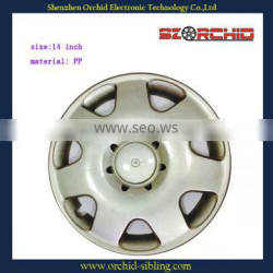 "15"" plastic silver hubcaps for vw superman"