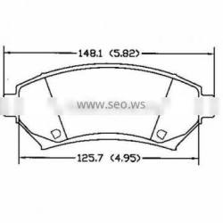 D699 1802 4962 Fronts for Buick Cadillac Chrysler Oldsmobile Plymouth Chevrolet Dodge Opel Pontiac Eagle car brake pad