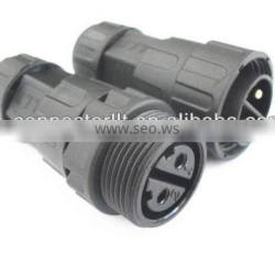 2 pin M25 cord to cord waterproof male female connector