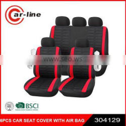 BSCI 6PCS CAR SEAT COVER SET WITH AIR BAG