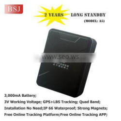 gps tracking device long battery life A5B