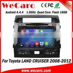 "Wecaro WC-TL9006 9"" Android 4.4.4 car dvd player touch screen navigation system for toyota land cruiser WIFI 3G 2008-2012"