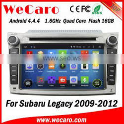 Wecaro WC-SU7069 android 4.4.4 car dvd player for subaru legacy touch screen car stereo 2009 2010 2011 2012 3G wifi playstore